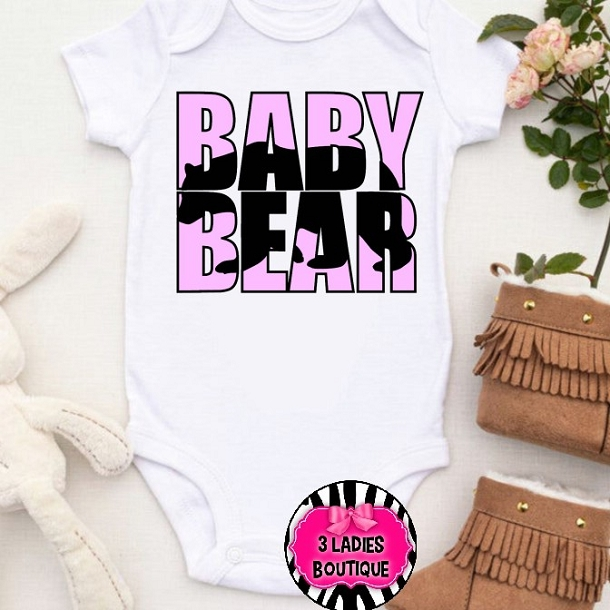 Baby Bear Blue Pink