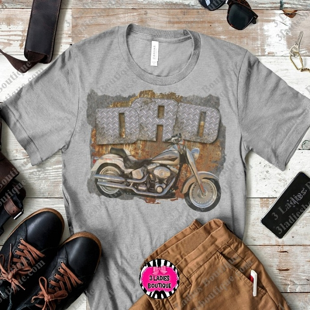 Retro Dad Motorcycle  Tan