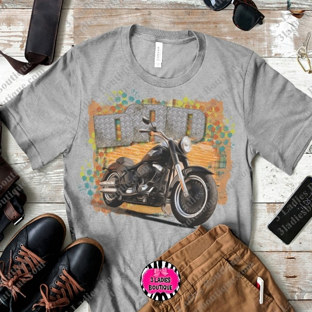 Retro Dad Motorcycle Black
